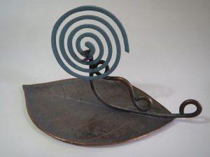 銅製:お香皿 竜