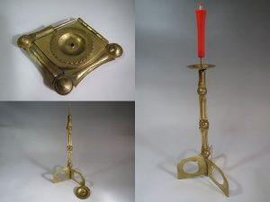 真鍮製:折りたたみ式燭台[復元]
